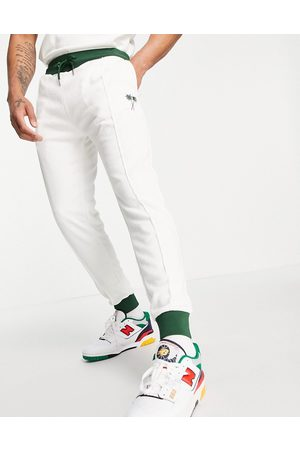River Island Towelling jogger in white