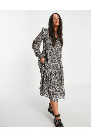 VIOLET ROMANCE Mujer Casuales - Tie neck tiered midaxi dress in floral print