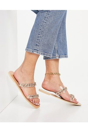 Ego Illusions mule flat sandals with chain straps