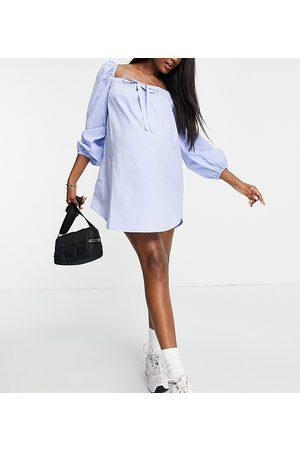 Urban Bliss Square neck volume mini dress in blue