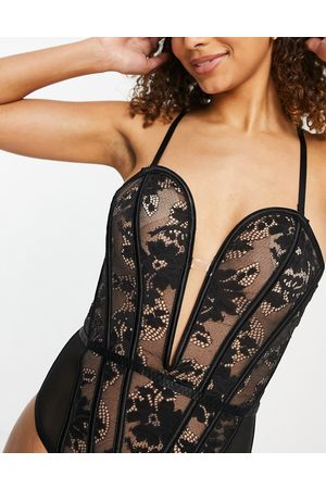 Ann Summers Mujer Lencería y Ropa interior - Lingerie the luxe bodysuit in black