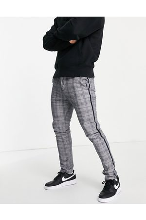 River Island Skinny smart check trousers in grey