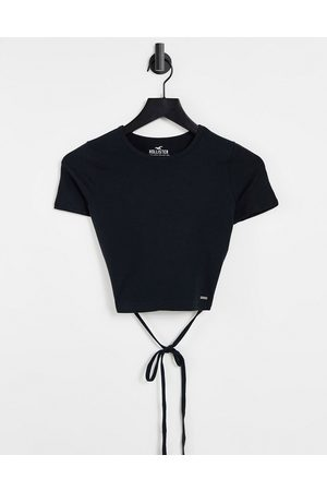 Hollister Strappy short sleeve t shirt in black