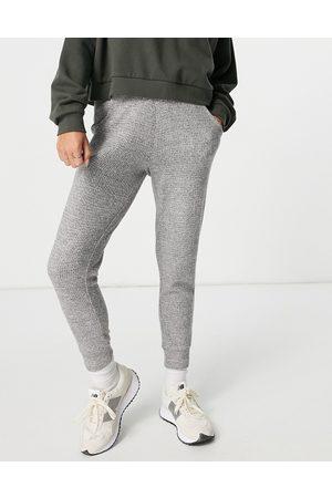 Aerie Mujer Leggings y treggings - Waffle jogging bottoms in dark grey