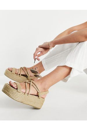 Raid Mujer Sandalias - Tinly flatform rope sandals in natural
