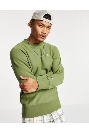 Champion Reverse Weave logo sweatshirt in khaki