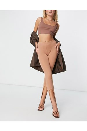 Fashionkilla Stirrup leggings in toffee
