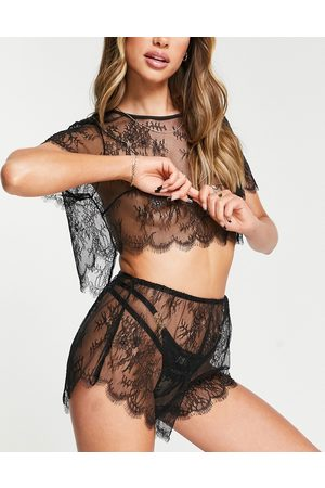 Ann Summers Maria Noir /& Shell Entrejambe Body Taille XL Extra Large 20-22 Neuf avec étiquettes