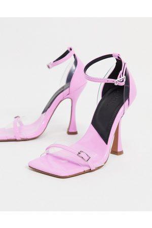 ASOS Mujer De tacón - Nut buckle detail high heeled sandals in purple