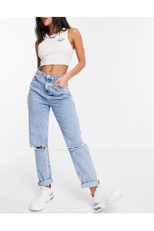 ASOS Mujer De cintura alta - High rise 'original' mom jeans in lightwash with rips