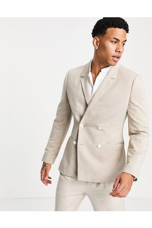 ASOS Skinny pique jersey blazer with white buttons