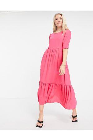 Closet Mujer Maxi - Closet Gathered Puff Sleeve Dress