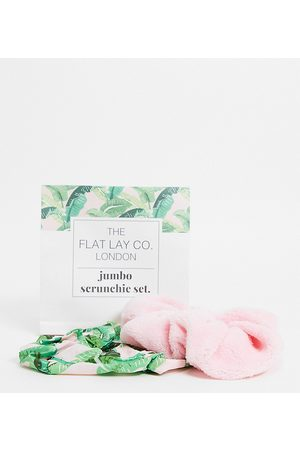 Flat Lay Company Mujer Accesorios para el cabello - The Flat Lay Co. X ASOS Exclusive Pink Jumbo Scrunchie Set
