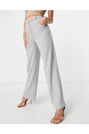 4th & Reckless Wide leg trousers in grey