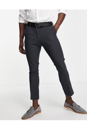 New Look Hombre Slim y skinny - Slim cropped suit trouser in navy