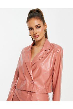 Heartbreak Mujer Sacos - Cropped PU blazer co