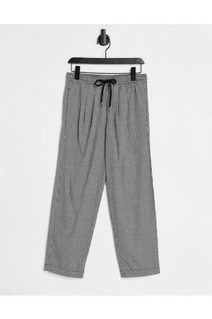 ASOS Wide leg trousers in micro check