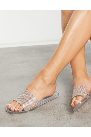 SIMMI Shoes Simmi London Journi jewelled jelly mules in silver