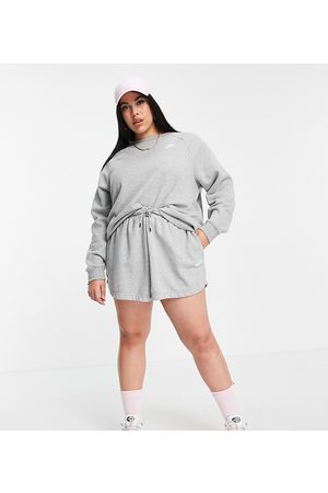 Nike Mujer Con capucha - Plus Size essential sweatshirt crew neck in grey