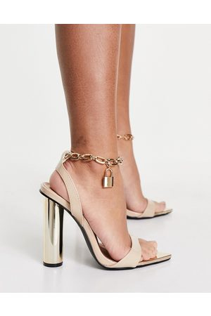 Public Desire Mujer De tacón - Expression block heeled sandals with padlock detail in