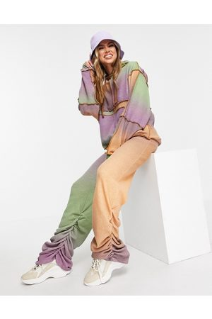Jaded London Mujer Leggings y treggings - Ombre lightweight knitted wide leg trousers with ruching co