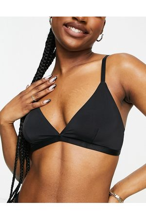 Monki Edith recycled triangle bra in black