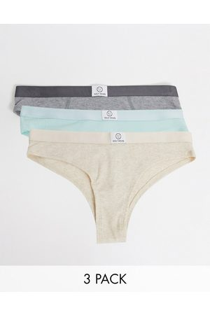 Gilly Hicks 3 pack ribbed cotton briefs in multi