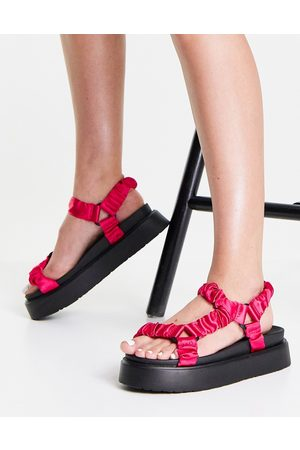 Ego Mujer Sandalias - Louis flatform sandals with ruched straps in pink