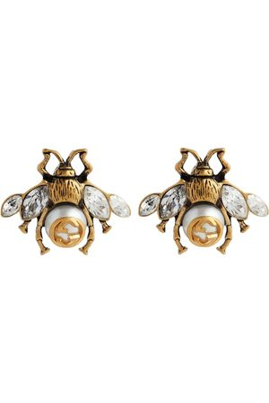 Gucci Bee crystal-embellished earrings