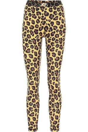 Adam Selman Sport Mujer Leggings y treggings - Bonded leopard-print leggings