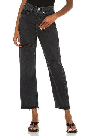 AGOLDE Jean pierna recta 90s en color negro talla 23 en - Black. Talla 23 (también en 24, 25, 26, 27, 28, 29, 30, 31, 32).