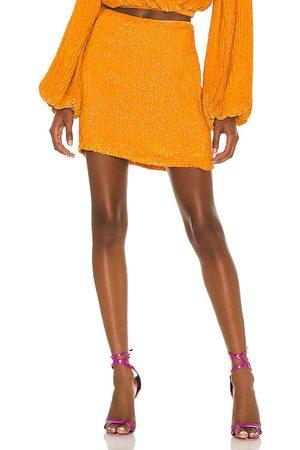 Retrofete Mujer Faldas - Falda frances en color naranja talla L en - Orange. Talla L (también en XS, S, M).