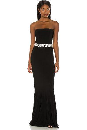 Norma Kamali Vestido largo en color talla L en - Black. Talla L (también en XXS, XS, S, M).