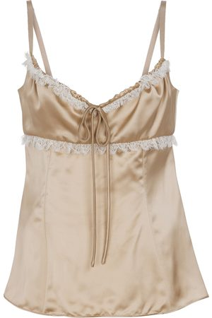 BROCK COLLECTION Siria lace-trimmed satin camisole