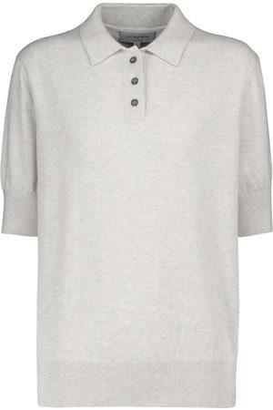 Lee Mathews Cotton-blend knit polo shirt