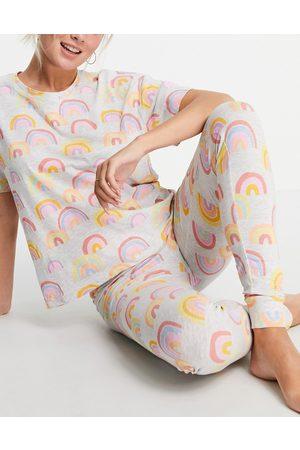Lindex Josie organic cotton rainbow print t
