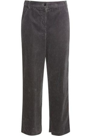 Aspesi Pantalones Cropped De Pana De Algodón