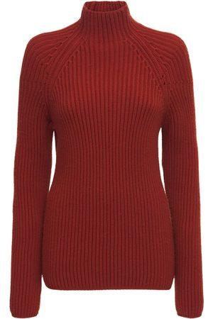 GABRIELA HEARST Mujer Suéteres - Suéter Yale De Punto Acanalado De Lana