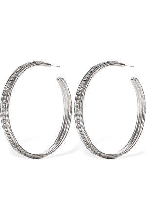 Yun Yun Sun Mujer Relojes - Pendientes De Aro Grandes Beryl Con Cristales
