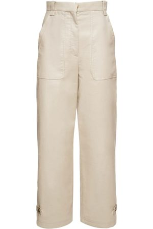 Agnona Mujer Pantalones y Leggings - Pantalones De Mezcla De Algodón Orgánico