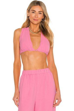 Camila Coelho Mujer Tops - Top corto devon en color rosado talla M en - Pink. Talla M (también en XXS, S, XL).