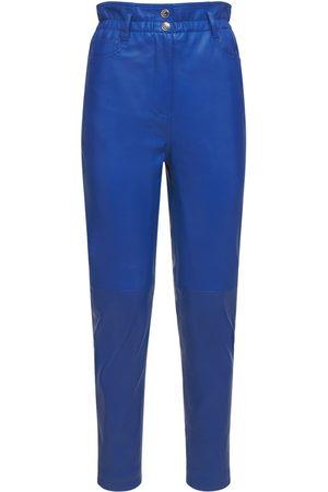 REMAIN Pantalones Gracele De Piel Con Cintura Alta