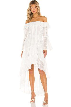 MISA Vestido aerin en color blanco talla L en - White. Talla L (también en XS, S, M).
