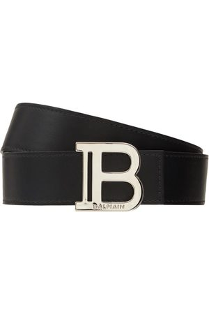 Balmain Cinturón De Piel Con Hebilla B 3.5cm