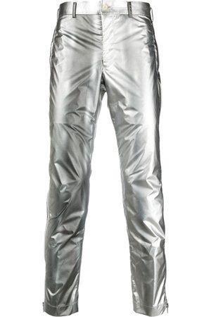 Comme des Garçons Pantalones slim metalizados