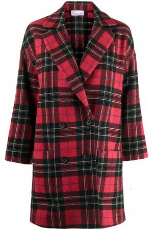 RED Valentino Tartan double-breasted coat