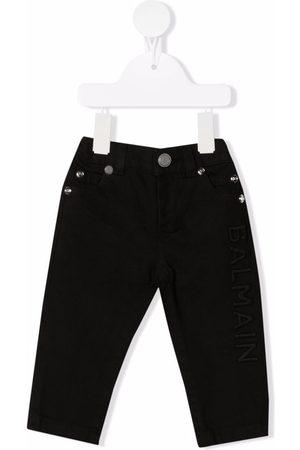 Balmain Pantalones skinny con logo