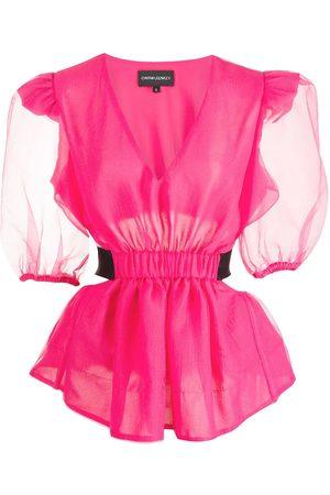 Cynthia Rowley Mujer Blusas - Blusa de organza con aberturas
