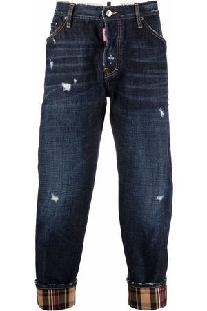 Dsquared2 Hombre Rectos - Work Wear check-cuff jeans