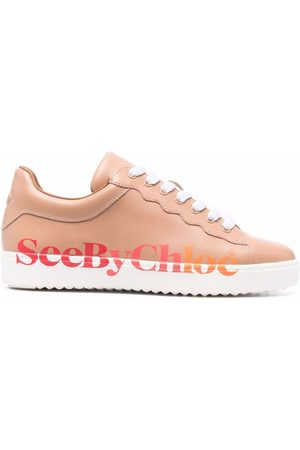 See by Chloé Essie logo-print leather sneakers